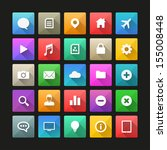 flat vector icons with long... | Shutterstock .eps vector #155008448