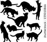 Cats Silhouette Collection  ...