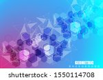 geometric abstract background... | Shutterstock .eps vector #1550114708