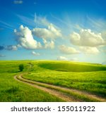 Summer Landscape With Green...