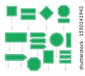 green road signs set. flat... | Shutterstock .eps vector #1550141942