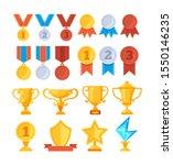achievement award trophy golden ... | Shutterstock .eps vector #1550146235