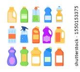 detergent cleaner bottles...   Shutterstock .eps vector #1550153375