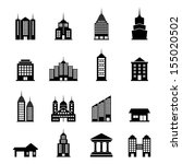 building vector set | Shutterstock .eps vector #155020502