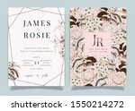 luxury pink wedding invitation... | Shutterstock .eps vector #1550214272