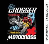 vector design crosser motocross ...   Shutterstock .eps vector #1550220125