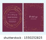 wedding invitation  thank you... | Shutterstock .eps vector #1550252825