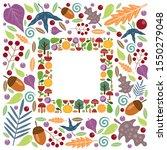 frame background with flower ... | Shutterstock .eps vector #1550279048