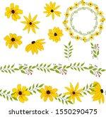 flowers of rudbeckia for gift... | Shutterstock .eps vector #1550290475