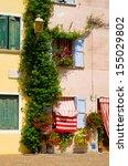 colorful window and door of...   Shutterstock . vector #155029802