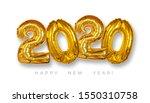 gold foil balloons 2020 on... | Shutterstock . vector #1550310758