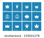 crown icons on blue background. ...