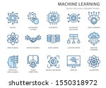 machine learning icons icons ... | Shutterstock .eps vector #1550318972