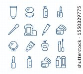 simple set of cosmetics related ... | Shutterstock .eps vector #1550329775