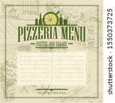 pizzeria menu list  copy space...   Shutterstock . vector #1550373725