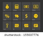 economy icons. see also vector...