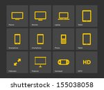 screens icons. see also vector...