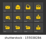 mail icons. see also vector...