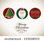 christmas design over pattern... | Shutterstock .eps vector #155038925