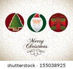 christmas design over pattern... | Shutterstock .eps vector #155038925
