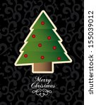 christmas design over pattern... | Shutterstock .eps vector #155039012