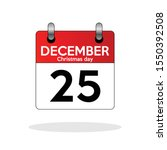 calendar christmas day icon in...