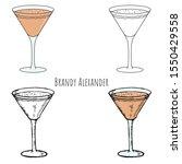 Brandy Alexander. Hand Drawn...