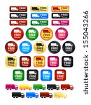 free delivery truck icons and... | Shutterstock .eps vector #155043266