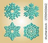 Turquoise Snowflakes. Winter...