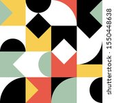 scandinavian geometric pattern. ... | Shutterstock .eps vector #1550448638