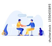 business partners. handshake of ... | Shutterstock .eps vector #1550455895