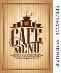 cafe menu cover design  coffee...   Shutterstock . vector #1550457335