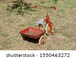 Tricycle Old Rusty Toy Bicycle