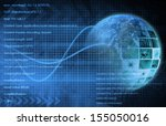 internet background with code...   Shutterstock . vector #155050016