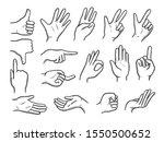 hands doodles. expression... | Shutterstock .eps vector #1550500652