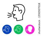 man talk control. speak out... | Shutterstock .eps vector #1550507018