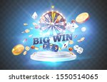 the word big win  surrounded by ... | Shutterstock .eps vector #1550514065