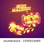 golden slot machine wins the... | Shutterstock .eps vector #1550515685