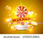 the word winner  surrounded by...   Shutterstock .eps vector #1550515802