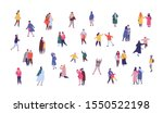 people in winter outwear... | Shutterstock .eps vector #1550522198