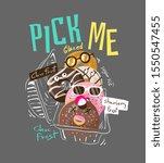 typography slogan with cartoon... | Shutterstock .eps vector #1550547455
