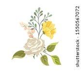 summer blooming white rose...   Shutterstock .eps vector #1550567072