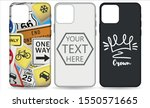 phone case template set. phone... | Shutterstock .eps vector #1550571665