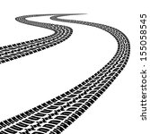 road with traces of tires.black ... | Shutterstock . vector #155058545