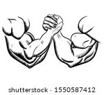 arm wrestling  fight  combat.... | Shutterstock .eps vector #1550587412