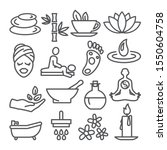 spa line icons set on white...   Shutterstock . vector #1550604758
