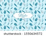 winter seamless pattern with... | Shutterstock .eps vector #1550634572