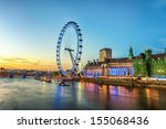 the london eye on the south... | Shutterstock . vector #155068436