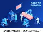 robotic surgery operating ... | Shutterstock .eps vector #1550694062
