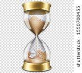 realistic transparent hourglass ... | Shutterstock .eps vector #1550700455